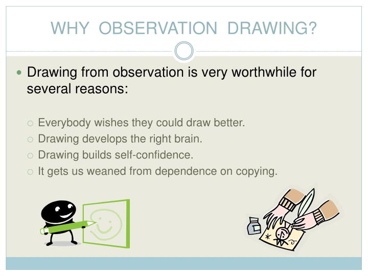WHY  OBSERVATION  DRAWING?