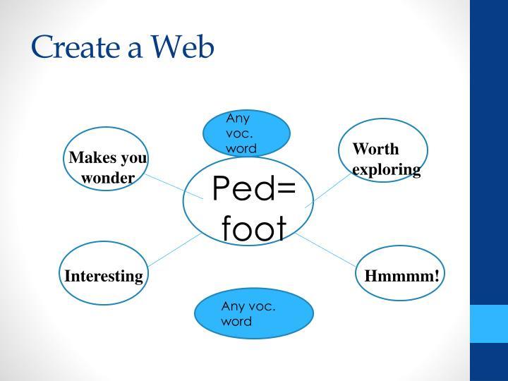 Create a Web