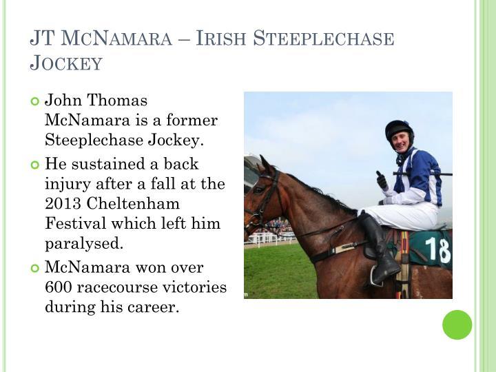 JT McNamara – Irish Steeplechase Jockey