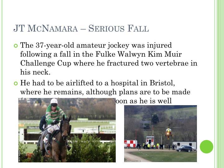 JT McNamara – Serious Fall
