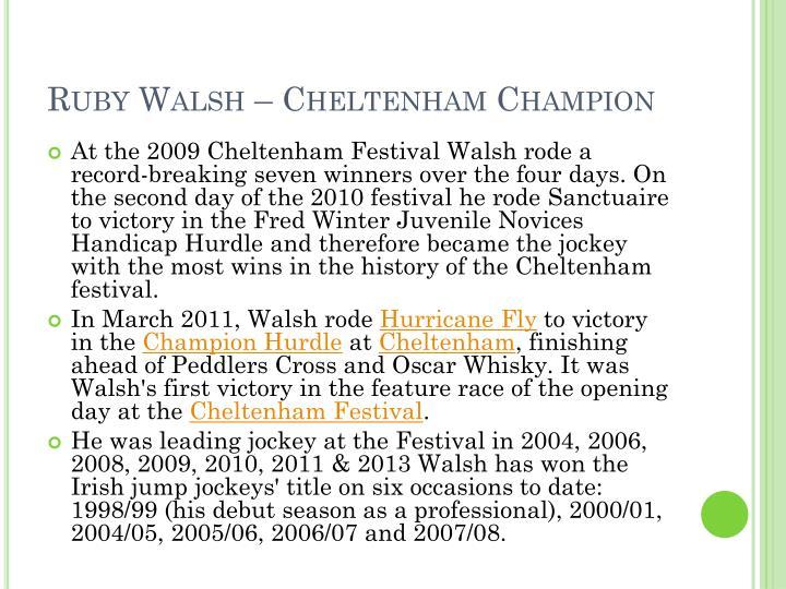 Ruby Walsh – Cheltenham Champion
