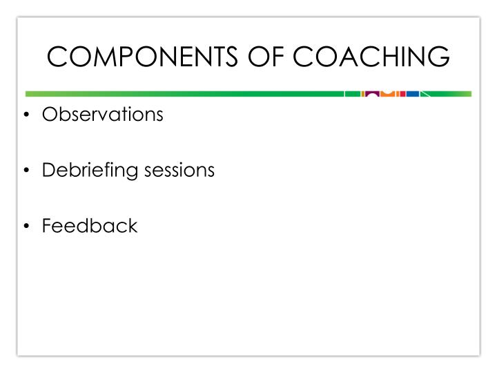 Components of Coaching