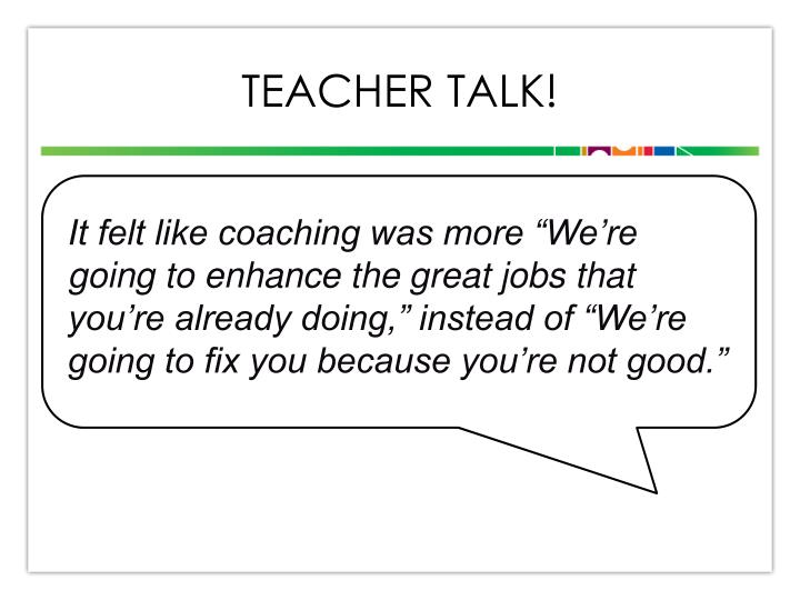 Teacher talk!