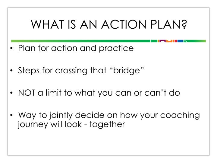 What is an action plan?