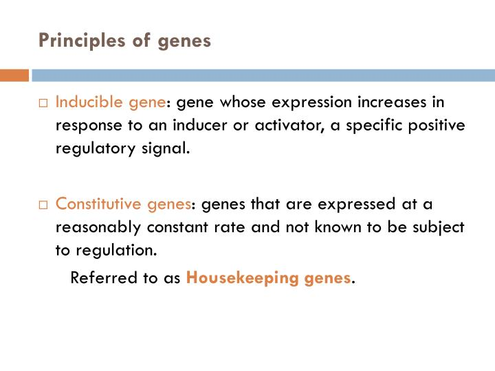 Principles of genes