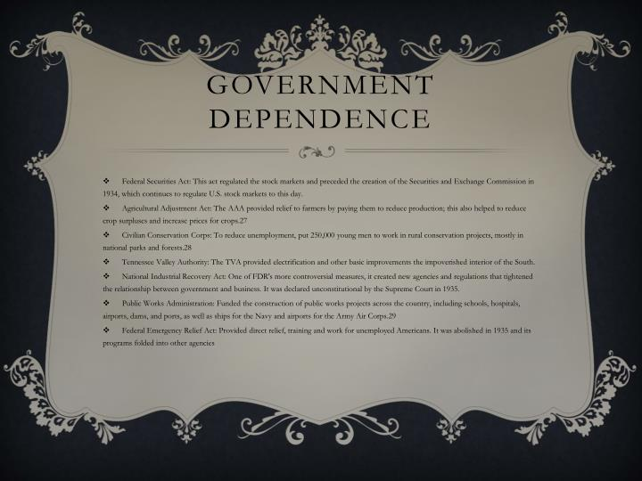 Government dependence