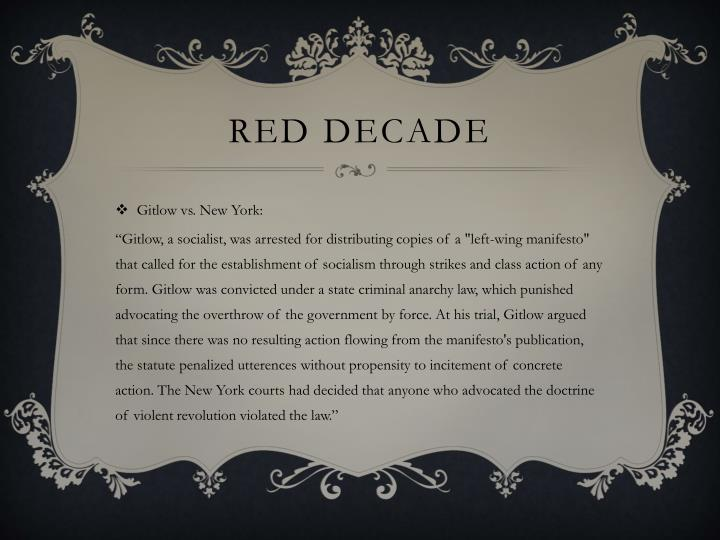 Red decade