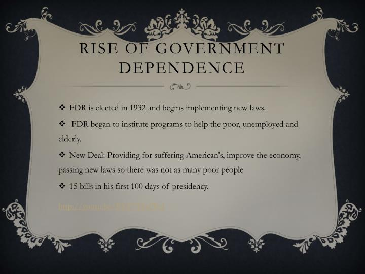 Rise of government dependence