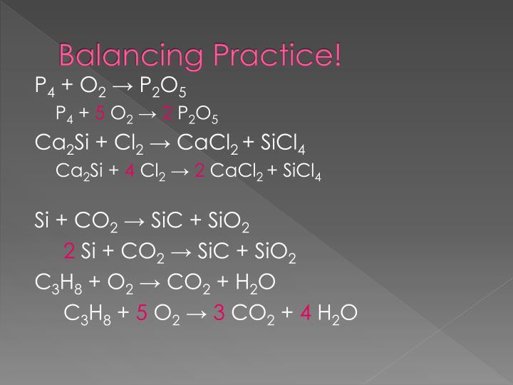 Balancing Practice!