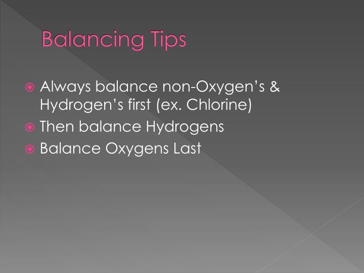 Balancing Tips