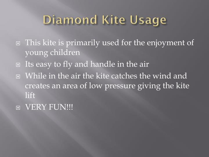 Diamond Kite Usage