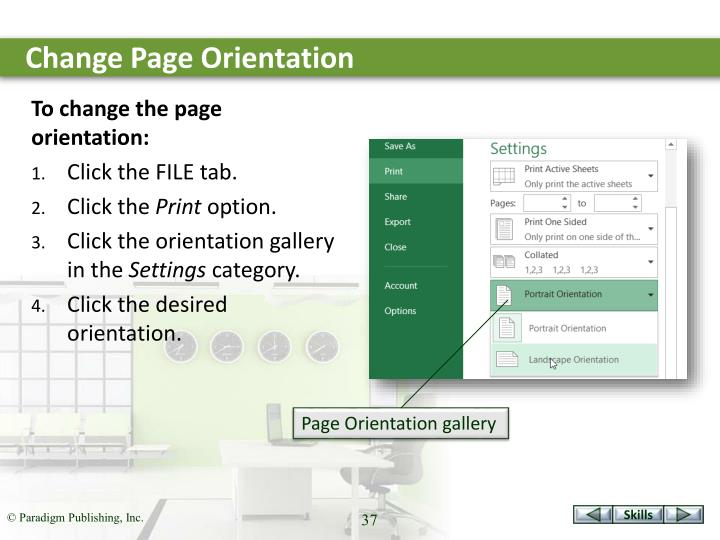 Change Page Orientation