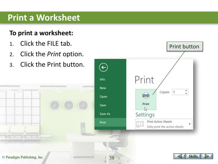 Print a Worksheet