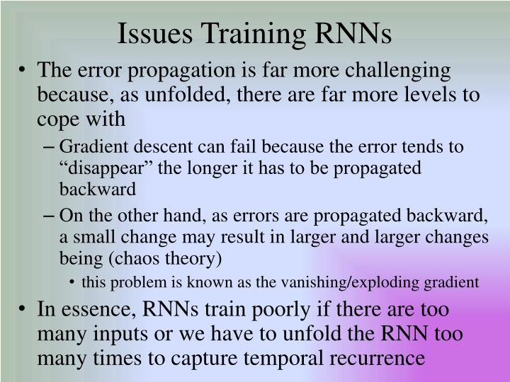 Issues Training RNNs