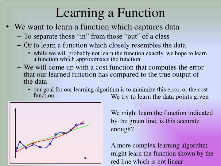 Learning a Function