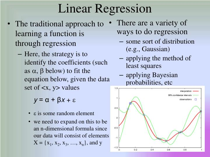 The traditional approach to learning a function is through regression