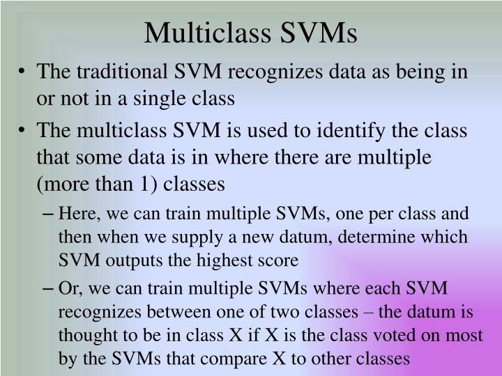 Multiclass SVMs