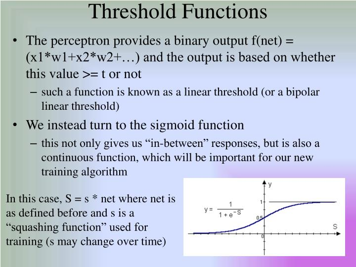 Threshold Functions