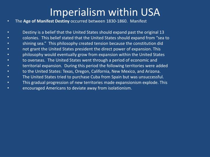 Imperialism within USA