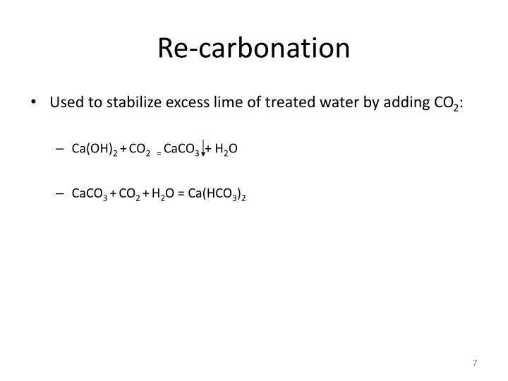 Re-carbonation