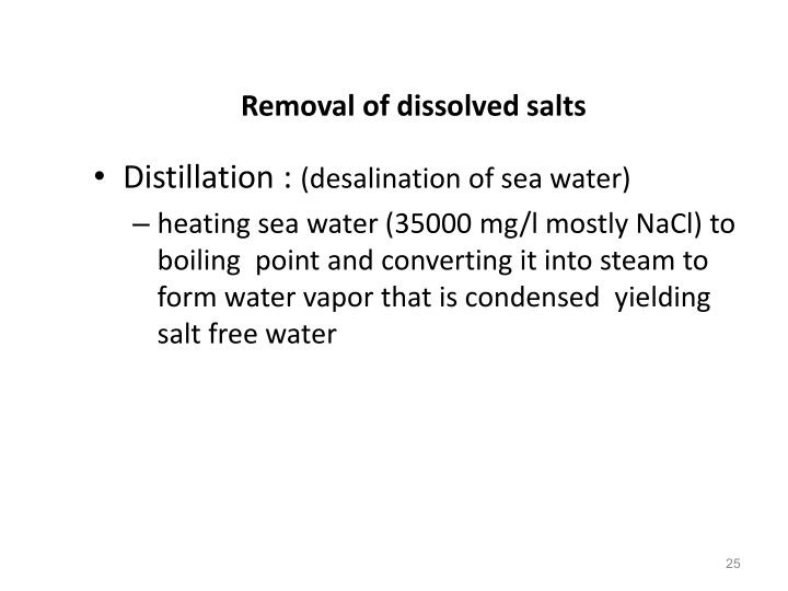 Removal of dissolved salts