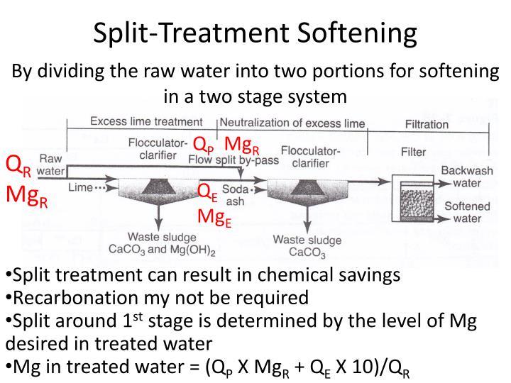 Split-Treatment Softening