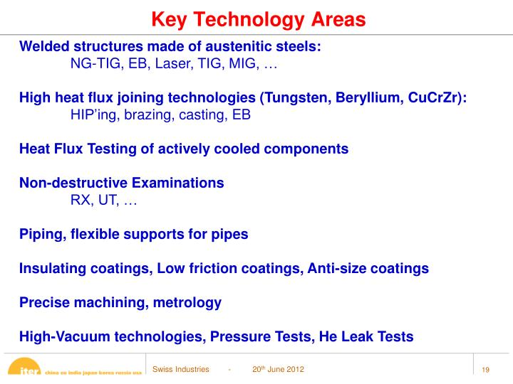 Key Technology Areas