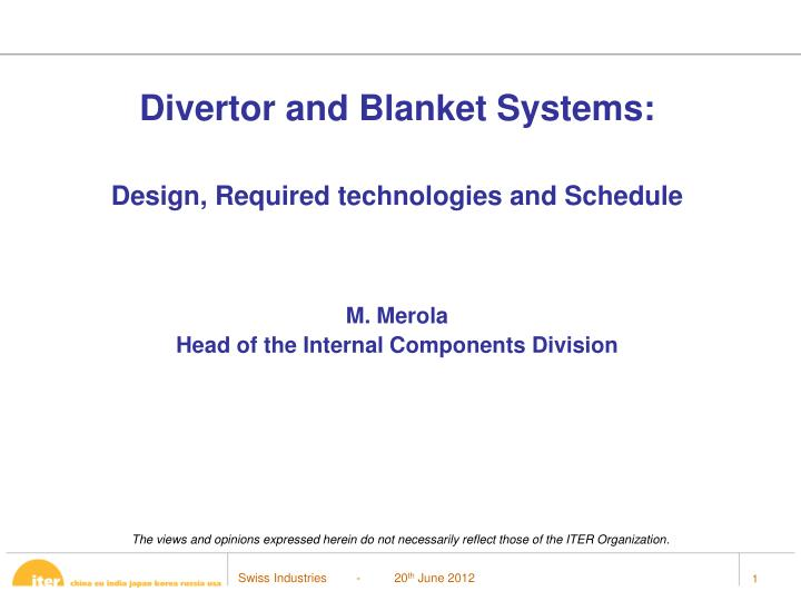 Divertor and Blanket Systems: