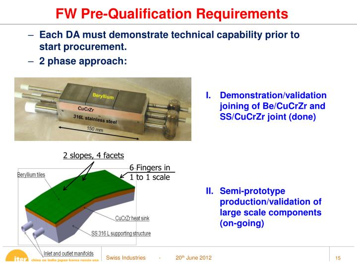 FW Pre-Qualification Requirements