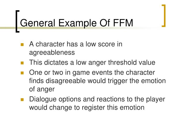 General Example Of FFM