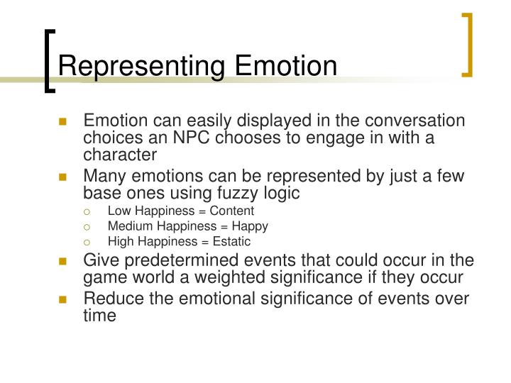 Representing Emotion