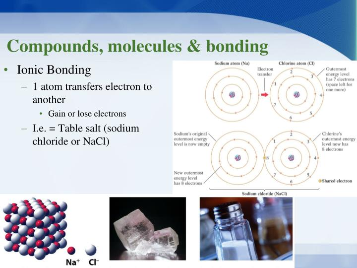 Compounds, molecules & bonding