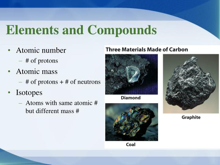 Elements and compounds1