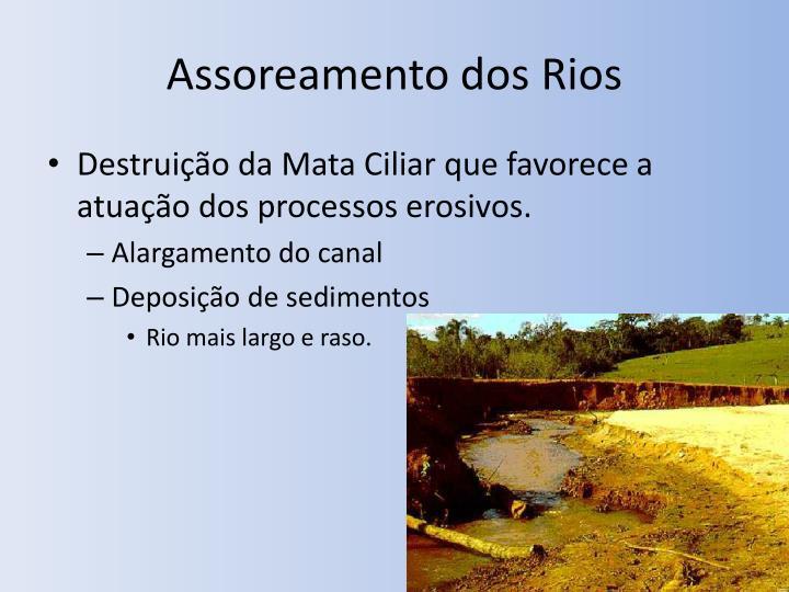 Assoreamento dos Rios