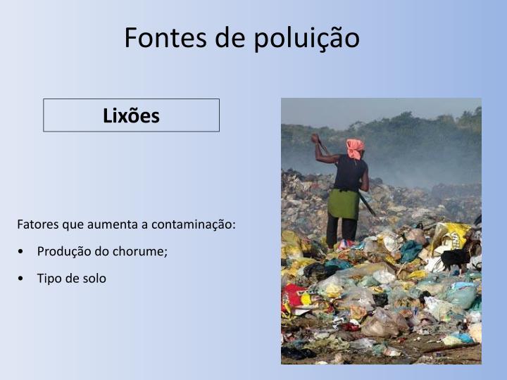 Fontes de poluição