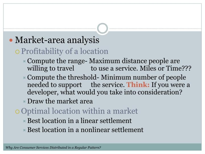 Market-area analysis