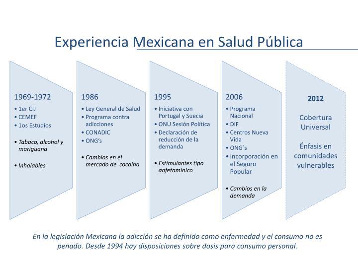 Experiencia Mexicana en Salud Pública