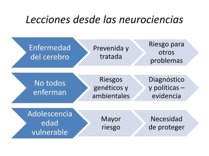 Lecciones desde las neurociencias