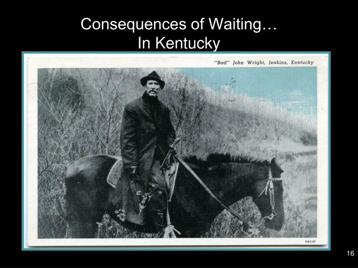 Consequences of Waiting…