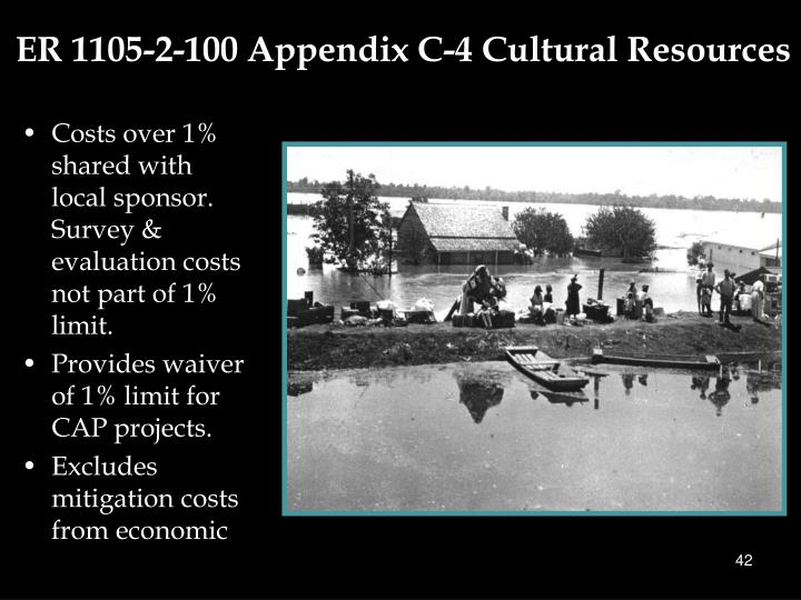 ER 1105-2-100 Appendix C-4 Cultural Resources