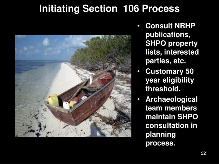 Initiating Section  106 Process