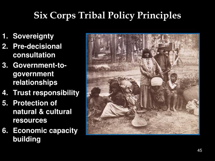 Six Corps Tribal Policy Principles
