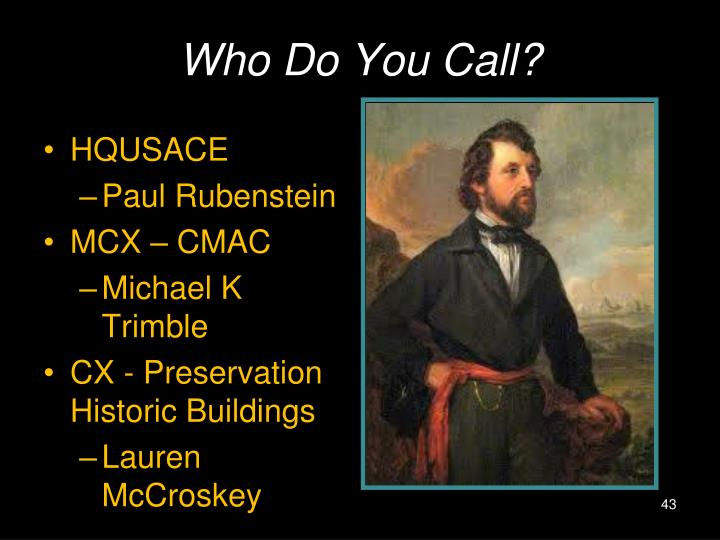 Who Do You Call?