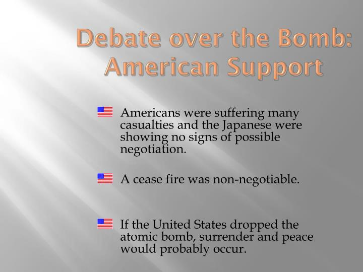 Debate over the Bomb: