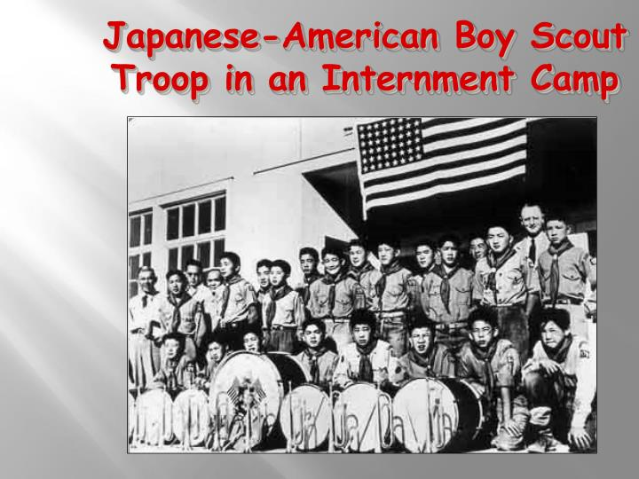 Japanese-American Boy Scout Troop in an Internment Camp