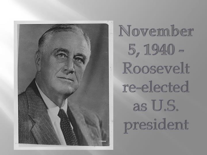 November 5, 1940 -