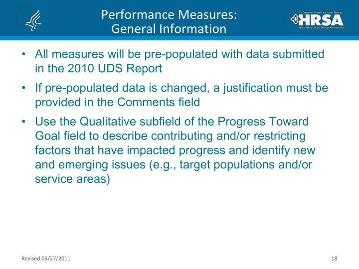 Performance Measures: