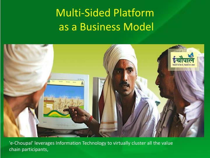 Multi sided platform as a business model