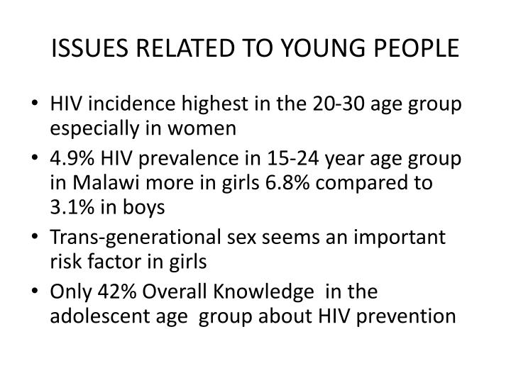 ISSUES RELATED TO YOUNG PEOPLE