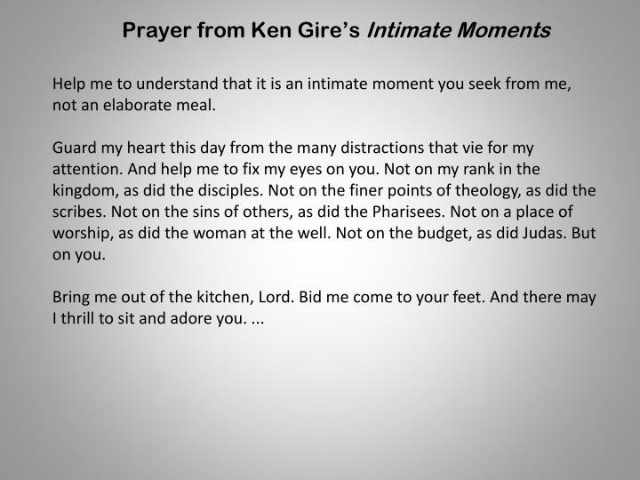 Prayer from Ken